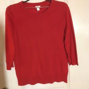 ⭐️J Crew⭐️ Classic 3/4 sleeve sweater